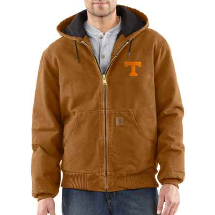 Carhartt Collegiate Sandstone Active Jacket - Quilt Lined, Factory Seconds (For Big and Tall Men) in Carhartt Brown Tennessee - 2nds