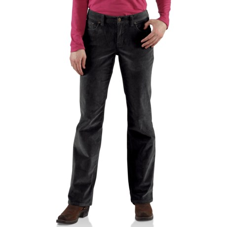 Carhartt Comfort Cord Pants -Stretch Fabric (For Women) in Merlot