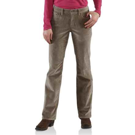 Carhartt Comfort Cord Pants -Stretch Fabric (For Women) in Light Shale Brown - 2nds