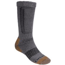 Carhartt Comfort Stretch Socks - Merino Wool, Mid Calf (For Men) in Heather Grey - 2nds