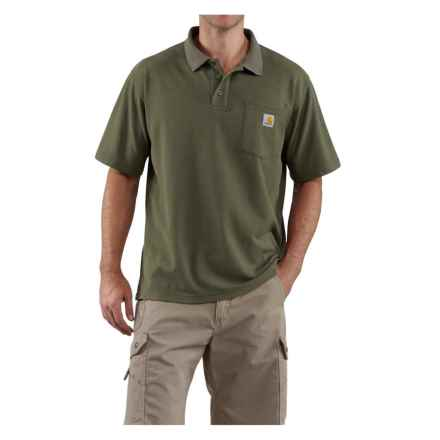 Carhartt Contractors Polo Shirt - Short Sleeve, Factory Seconds (For Men) in Moss - 2nds