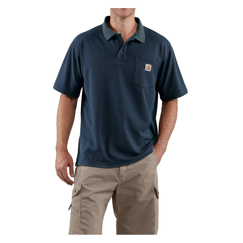 Carhartt contractors work pocket polo shirt for men for Mens work polo shirts
