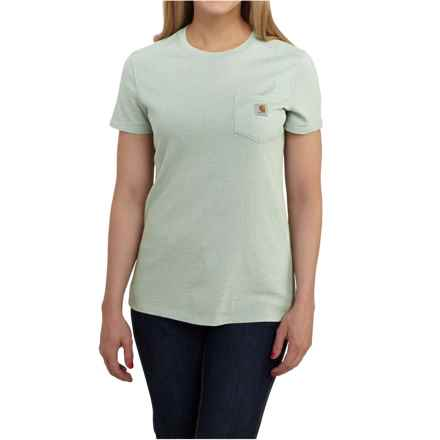 Carhartt Cotton-Blend Single-Pocket T-Shirt - Short Sleeve, Factory Seconds (For Women) in Aqua Gray Heather - 2nds