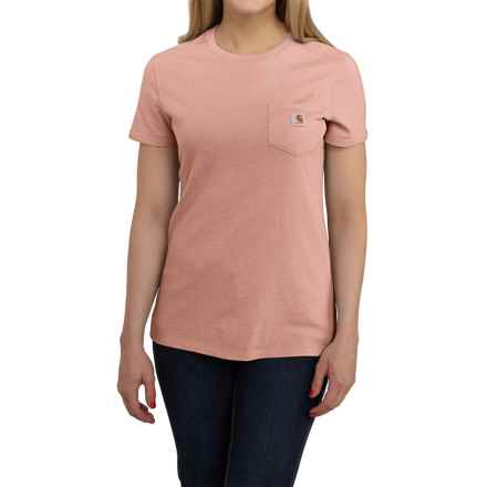 Carhartt Cotton-Blend Single-Pocket T-Shirt - Short Sleeve, Factory Seconds (For Women) in Misty Rose Heather - 2nds