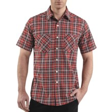 Carhartt Cotton Plaid Shirt - Lightweight, Short Sleeve (For Men) in Crimson - 2nds
