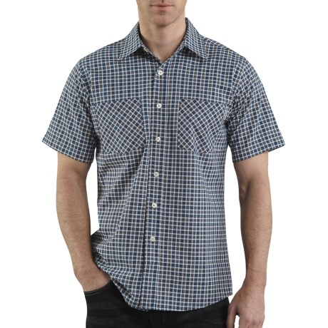 Carhartt Cotton Plaid Shirt - Lightweight, Short Sleeve (For Men) in Navy