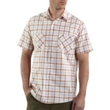 Carhartt Cotton Plaid Shirt - Lightweight, Short Sleeve (For Men)