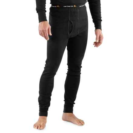 Carhartt Cotton Thermal Pants - Factory Seconds (For Big Men) in Black - 2nds
