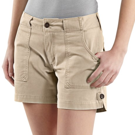 Carhartt Cotton Twill Shorts (For Women) in Stone
