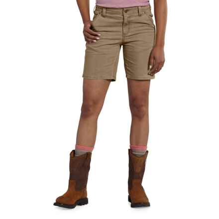 Carhartt Crawford Shorts - Original Fit, Factory Seconds (For Women) in Yukon - Closeouts