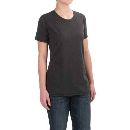 Carhartt Crew Neck T-Shirt - Short Sleeve (For Women) in 021 Charcoal Heather - Closeouts