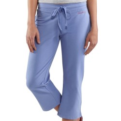 Carhartt Cropped Track Pants -Stretch Cotton (For Women) in Bright Blueberry