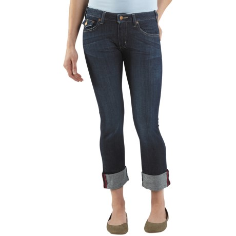 Carhartt Curvy-Fit Denim Cropped Pants (For Women) in Vintage Night