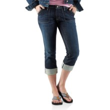 Carhartt Curvy Fit Tomboy Capris - Stretch Denim (For Women) in Vintage Night - 2nds