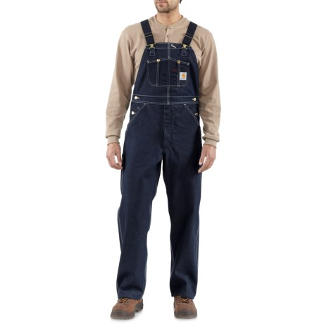 Carhartt Denim Bib Overalls - Factory Seconds (For Men)