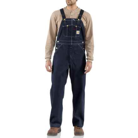 Carhartt Denim Bib Overalls - Unlined, Factory Seconds (For Big and Tall Men) in Denim - 2nds