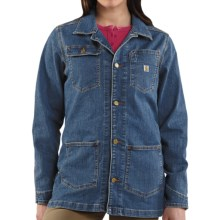 Carhartt Denim Chore Coat (For Women) in Aged Blue - 2nds