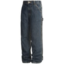Carhartt Denim Dungarees - Flannel-Lined (For Boys) in Denim - Closeouts
