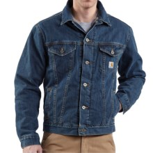 Carhartt Denim Jean Jacket - Sherpa Lined (For Men) in Authentic Blue - 2nds