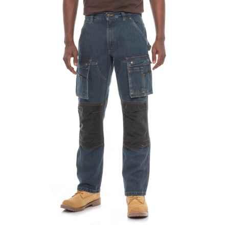 Carhartt Denim Multi Pocket Tech Pants - Straight Leg, Factory 2nds (For Men) in Rinsed Indigo - 2nds