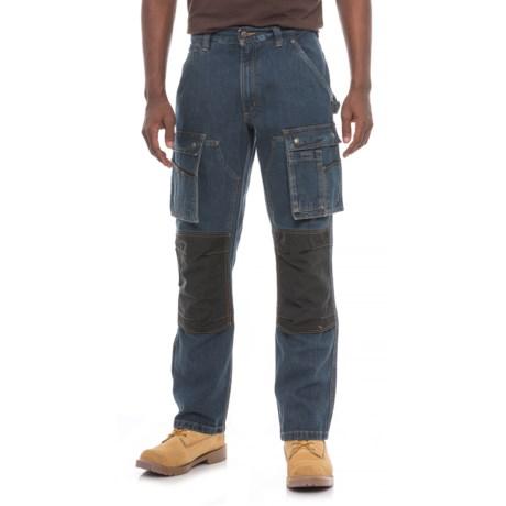 Carhartt Denim Multi Pocket Tech Pants - Straight Leg, Factory 2nds (For Men) in Rinsed Indigo