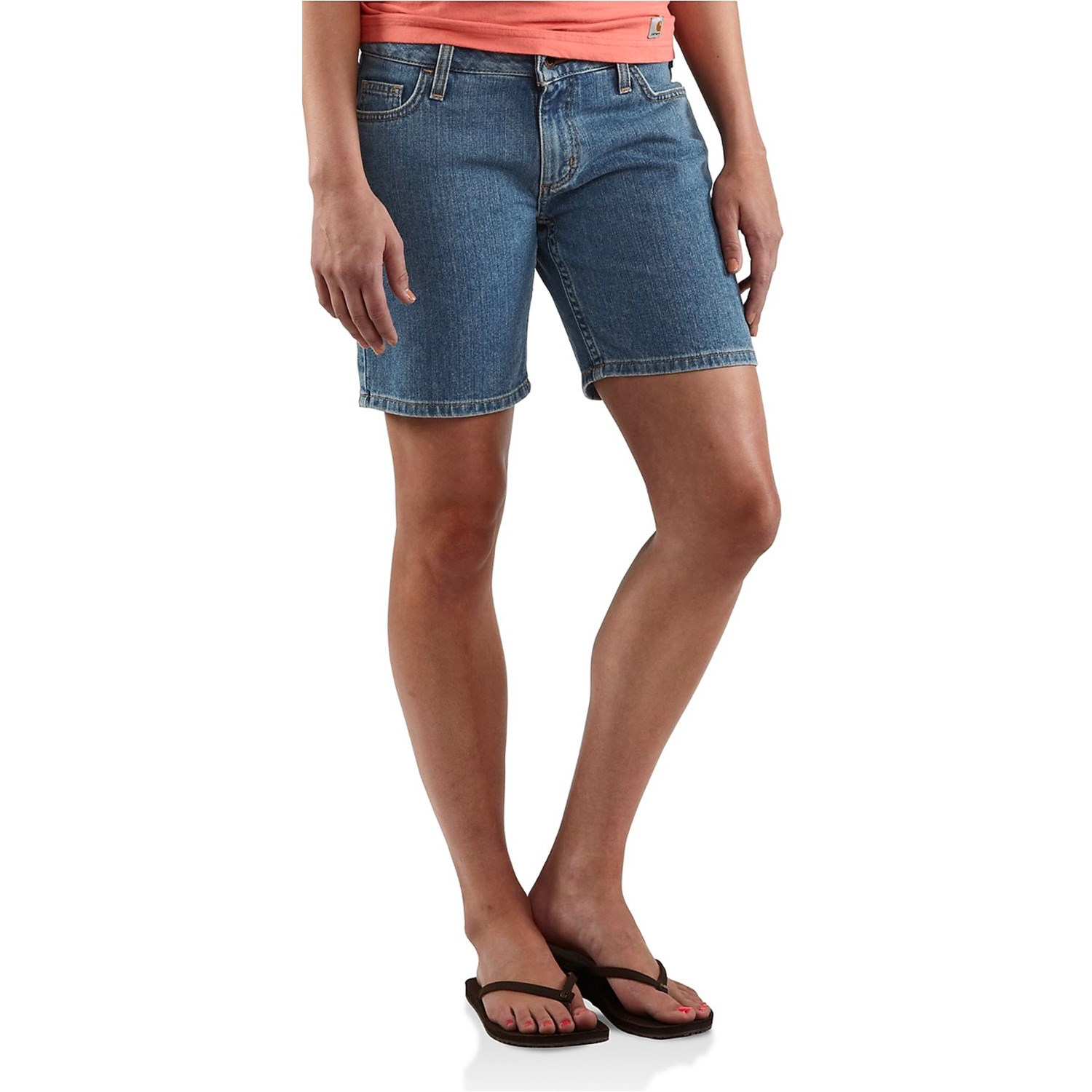 Long Denim Shorts. MiH The Phoebe Shorts ($) in Super Bleach. Wear these with your favorite sneakers for a super casual daytime look.