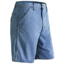 Carhartt Denim Work Shorts (For Men) in Stone Washed Denim - 2nds