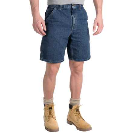 Carhartt Denim Work Shorts - Lightweight, Factory Seconds (For Men) in Deep Stonewash - 2nds