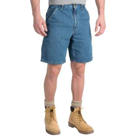 Carhartt Denim Work Shorts - Lightweight, Factory Seconds (For Men) in Stone Wash - 2nds