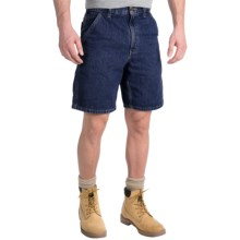 Carhartt Denim Work Shorts - Lightweight (For Men) in Dark Stone Wash - 2nds