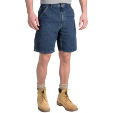Carhartt Denim Work Shorts - Lightweight (For Men) in Deep Stonewash - 2nds