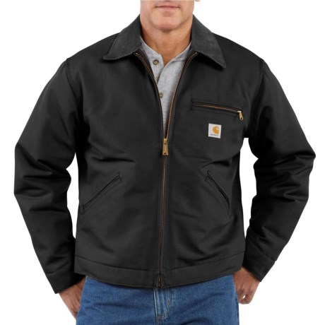 Carhartt Detroit Duck Blanket-Lined Jacket - Factory Seconds (For Big and Tall Men) in Black