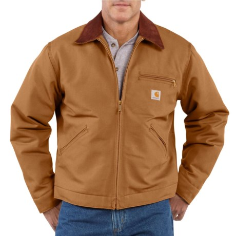 Carhartt Detroit Duck Blanket-Lined Jacket - Factory Seconds (For Big and Tall Men) in Carhartt Brown