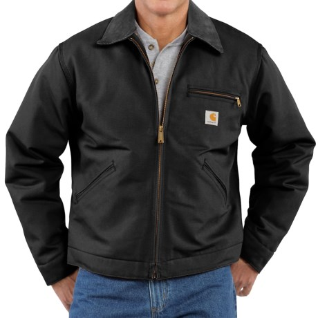 Carhartt Detroit Duck Blanket-Lined Jacket - Factory Seconds (For Men) in Black
