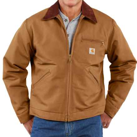 Carhartt Detroit Duck Blanket-Lined Jacket - Factory Seconds (For Men) in Carhartt Brown - 2nds