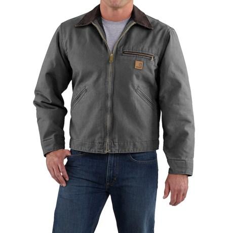 Carhartt Detroit Jacket - Sandstone, Blanket-Lined (For Men) in Dark Brown