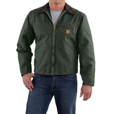 Carhartt Detroit Sandstone Jacket - Blanket Lined, Factory Seconds (For Men) in Moss - 2nds
