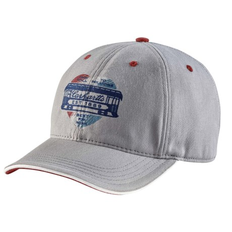 9bf3b4bbe0144 Carhartt Distressed Heart Graphic Cap (For Women) in Silver