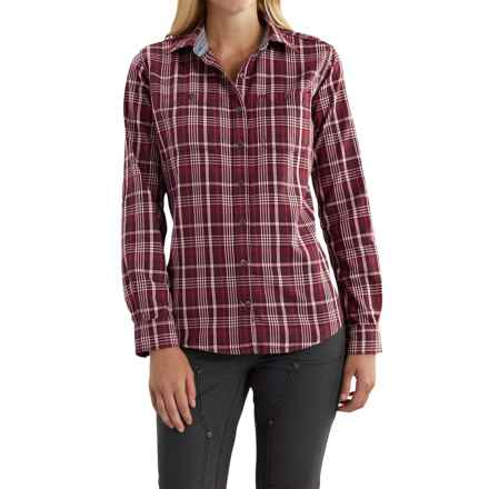 Carhartt Dodson Plaid Shirt - Roll-Up Long Sleeve, Factory Seconds (For Women) in Deep Wine - 2nds