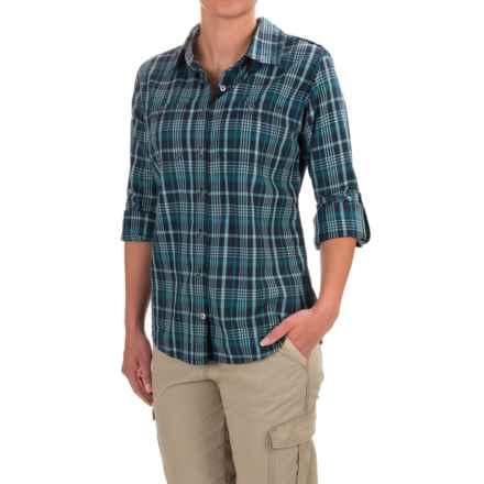 Carhartt Dodson Plaid Shirt - Roll-Up Long Sleeve, Factory Seconds (For Women) in Navy - 2nds