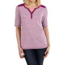 Carhartt Dorena Henley T-Shirt - Elbow Sleeve (For Women) in Magenta Heather - 2nds