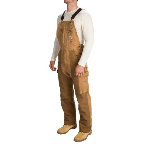 Carhartt Double Barrel Bib Overalls - Factory Seconds (For Men) in Carhartt Brown