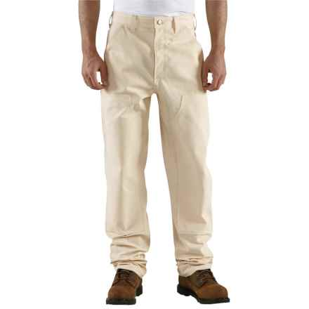 Carhartt Double-Front Drill Work Jeans - Factory Seconds (For Men) in Natural - 2nds