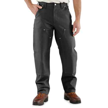 Carhartt Double-Front Duck Jeans - Factory Seconds (For Men) in Black - 2nds
