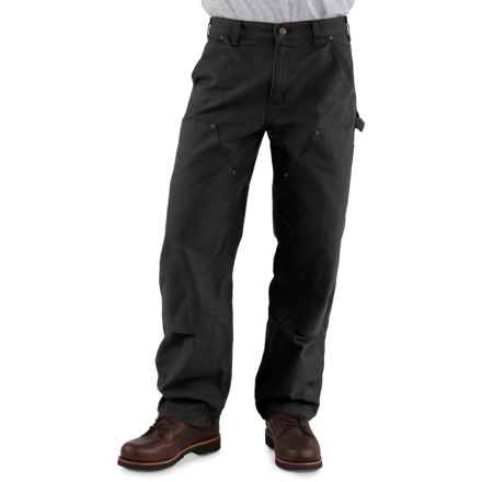 Carhartt Double-Front Dungaree Jeans - Factory Seconds (For Men) in Black - 2nds
