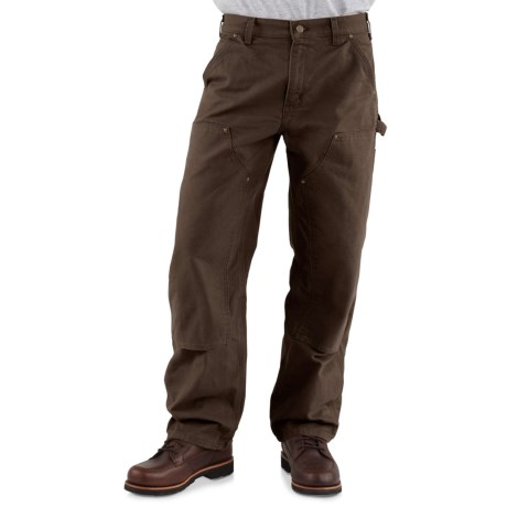 Carhartt Double-Front Dungaree Jeans - Factory Seconds (For Men) in Dark Brown