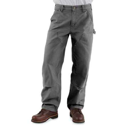 Carhartt Double-Front Dungaree Jeans - Factory Seconds (For Men) in Gravel - 2nds