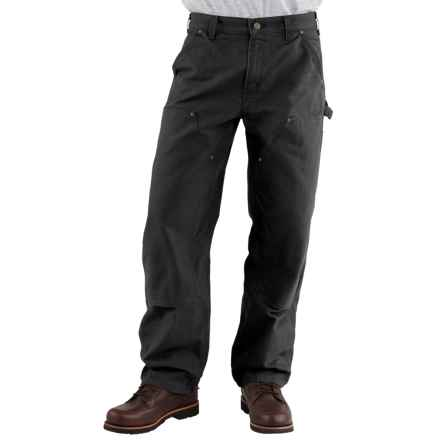 Carhartt Double-Front Dungaree Jeans - Washed, Factory Seconds (For Men) in Black - 2nds