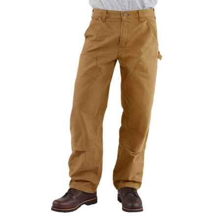 Carhartt Double-Front Dungaree Jeans - Washed, Factory Seconds (For Men) in Carhartt Brown - 2nds