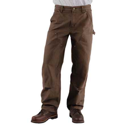 Carhartt Double-Front Dungaree Jeans - Washed, Factory Seconds (For Men) in Dark Brown - 2nds